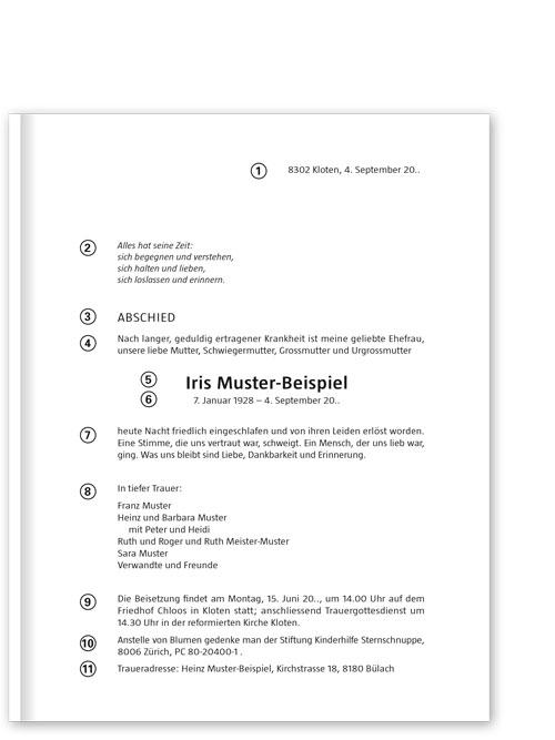 Texthilfe Für Traueranzeigen Trauerkarten Todesanzeigen